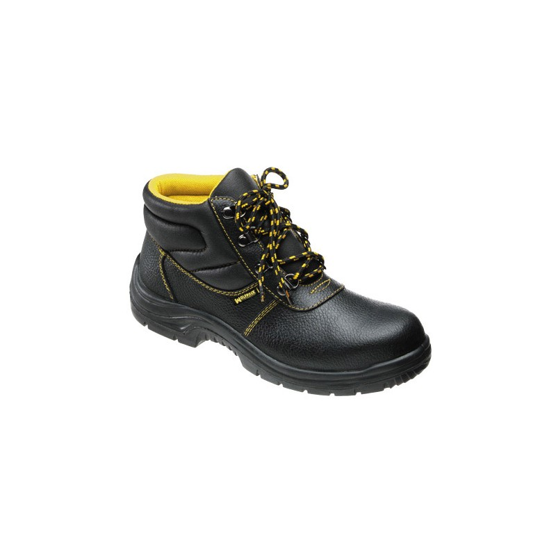Safety Boots Black Leather Wolfpack NO. 48 (Pair)