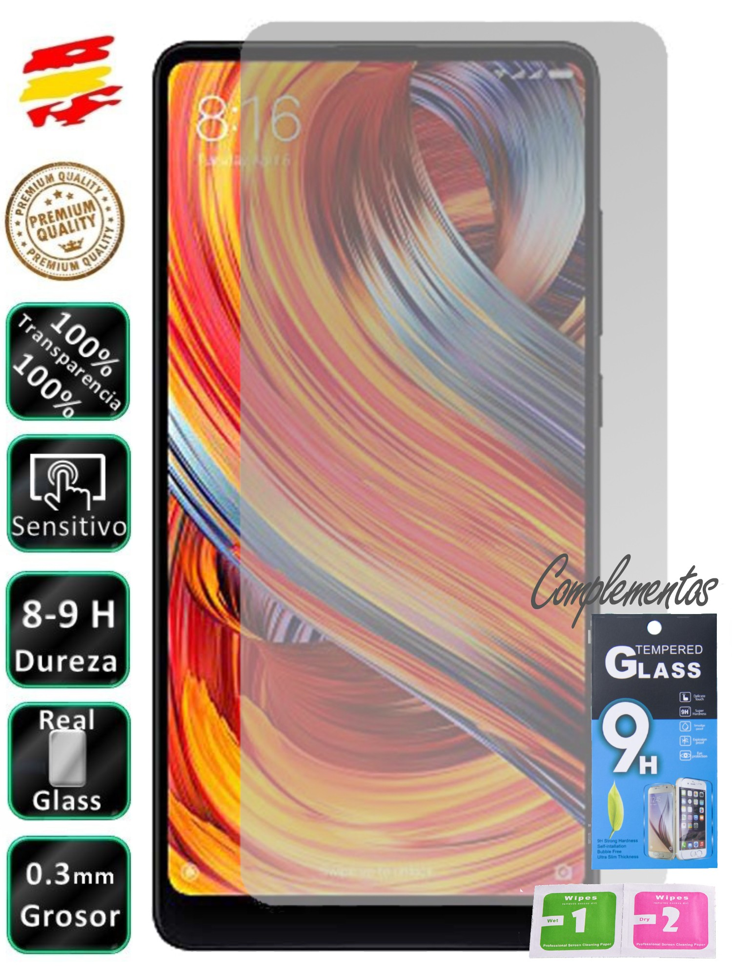 Protector For Xiaomi Mi Mix 2S Tempered Glass Screen For Mobile