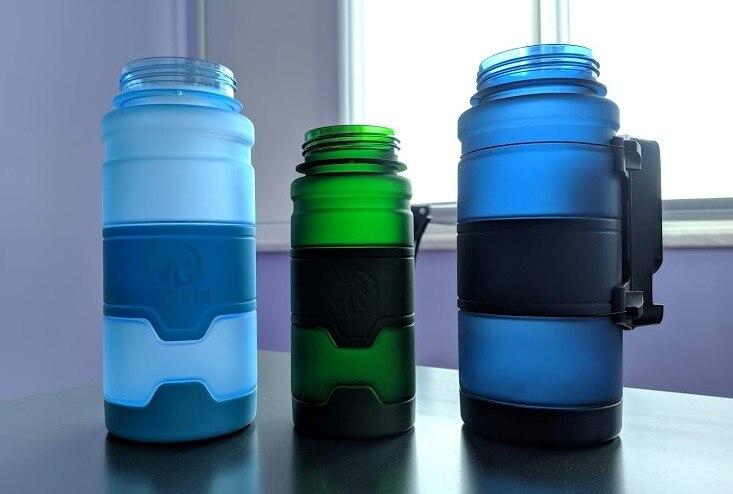 ZORRI Bottle For Water Protein Shaker Portable Motion Sports Water Bottle Bpa Free Plastic For Sports Camping Hiking Gourde|Water Bottles|   - AliExpress