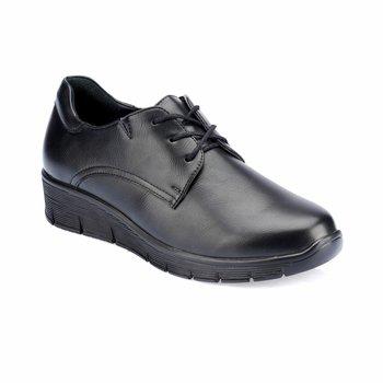 FLO TRV8212 czarne buty damskie Polaris tanie i dobre opinie Trzciny