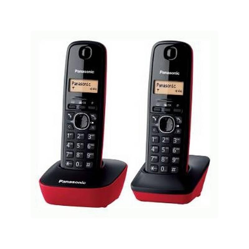 Panasonic Cordless Phone Corp. KX-TG1612SPR DECT Black (2 Pcs)