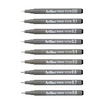 System rysowania Artline techniczne pióro do rysowania 9 #8217 lu pełny zestaw tanie i dobre opinie CN (pochodzenie)