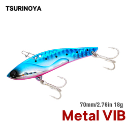 TSURINOYA Strong Vibration Winter Metal VIB Fishing Lure 70mm 18g DW38-A Bass Hard Bait Ice Inshore Long Casting Jigging Lure