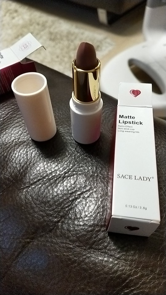 SACE LADY 9 Colors Lips Makeup Waterproof Silky Matte Lipstick Long Lasting Moisture Lipstick Matte Red Lip stick Cosmetic reviews №2 149320