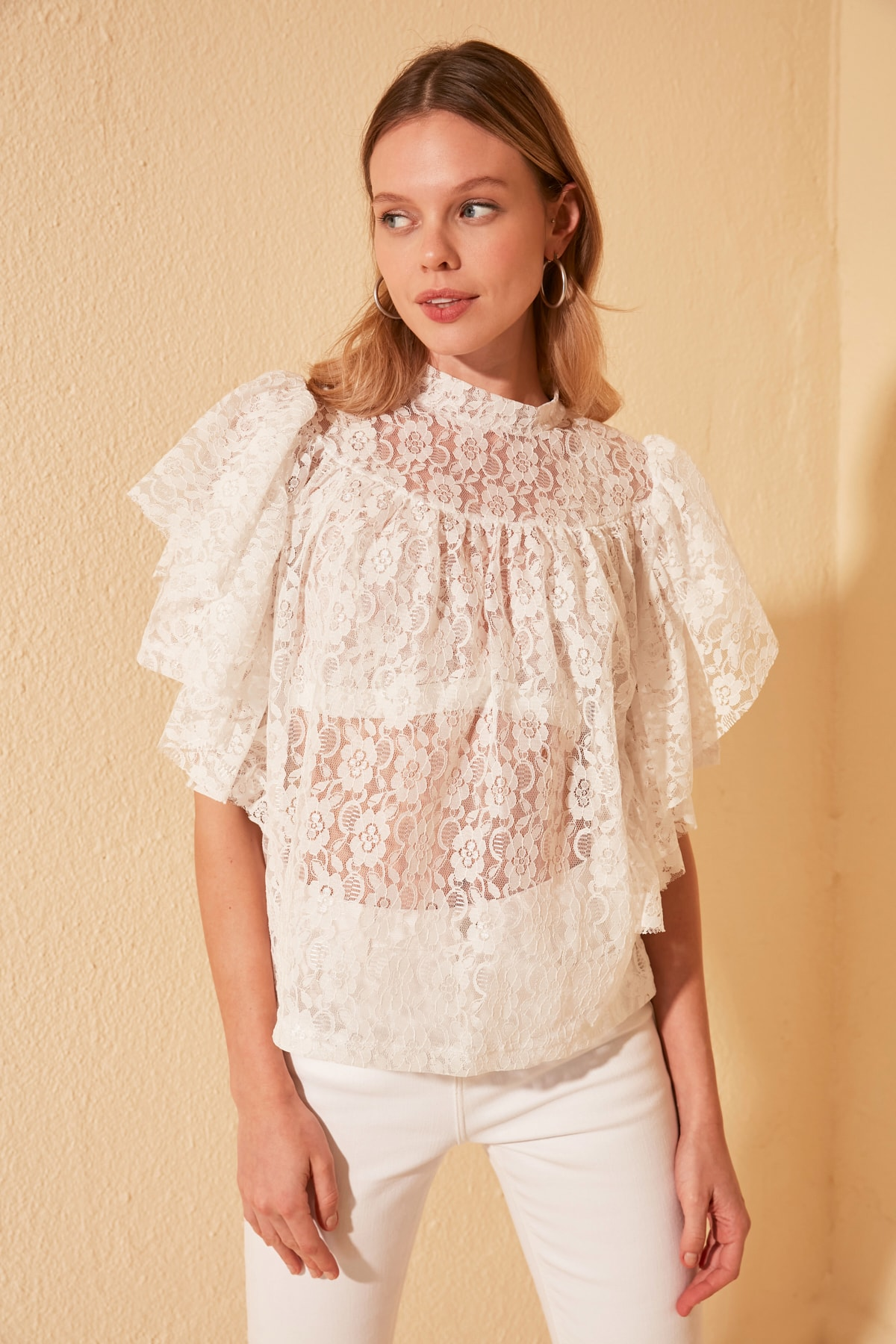 Trendyol Ruched Knitted Blouse TWOSS20BZ0349