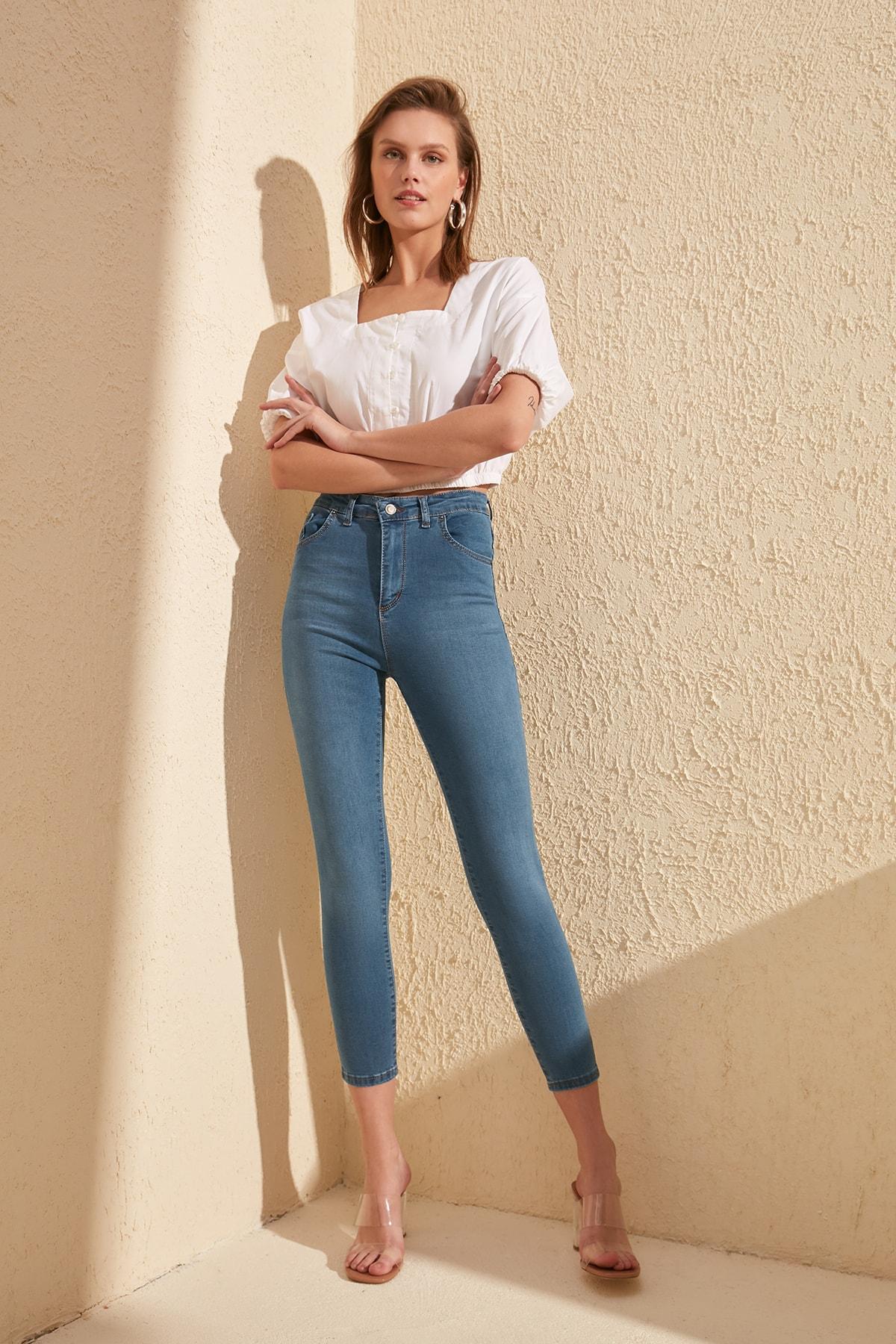 Trendyol High Waist Skinny Jeans TWOSS20JE0302