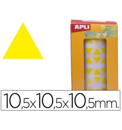 GOMETS ADHESIVE TRIANGULATE 10,5X10,5X10,5 MM YELLOW ROLL