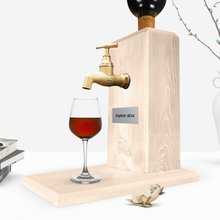 Personalized Tap Natural Wood Wine Stand-Wood