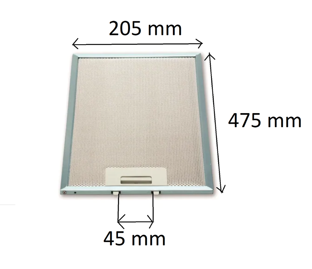 Universal Kitchen Cooker Hood Mesh Filter (Metal Filter) 205 x 475 mm