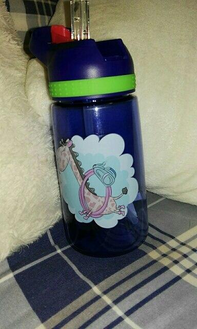 450ml Kids Water Bottle With Straw BPA Free Children Water Drinking Kettle Healthy Plastic Portable Sports Bottle-in Water Bottles from Home & Garden on AliExpress