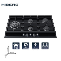 Built in Hob gas HIBERG VM 9055 B Home Appliances Major Appliances gas cooking Surface hob cookers cooking unit