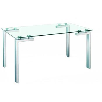 Minimalist table multi purpose, Chrome bold with tempered glass 10mm. 140x80 cm FREE SHIPPING from Spain светильник fametto dls l127 2001 luciole chrome glass
