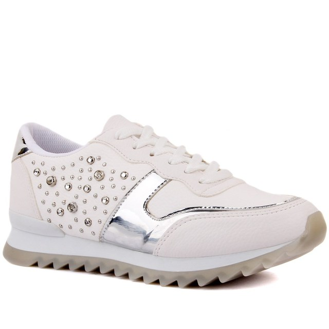 Moxee-White Coloured Women's Casual Shoes