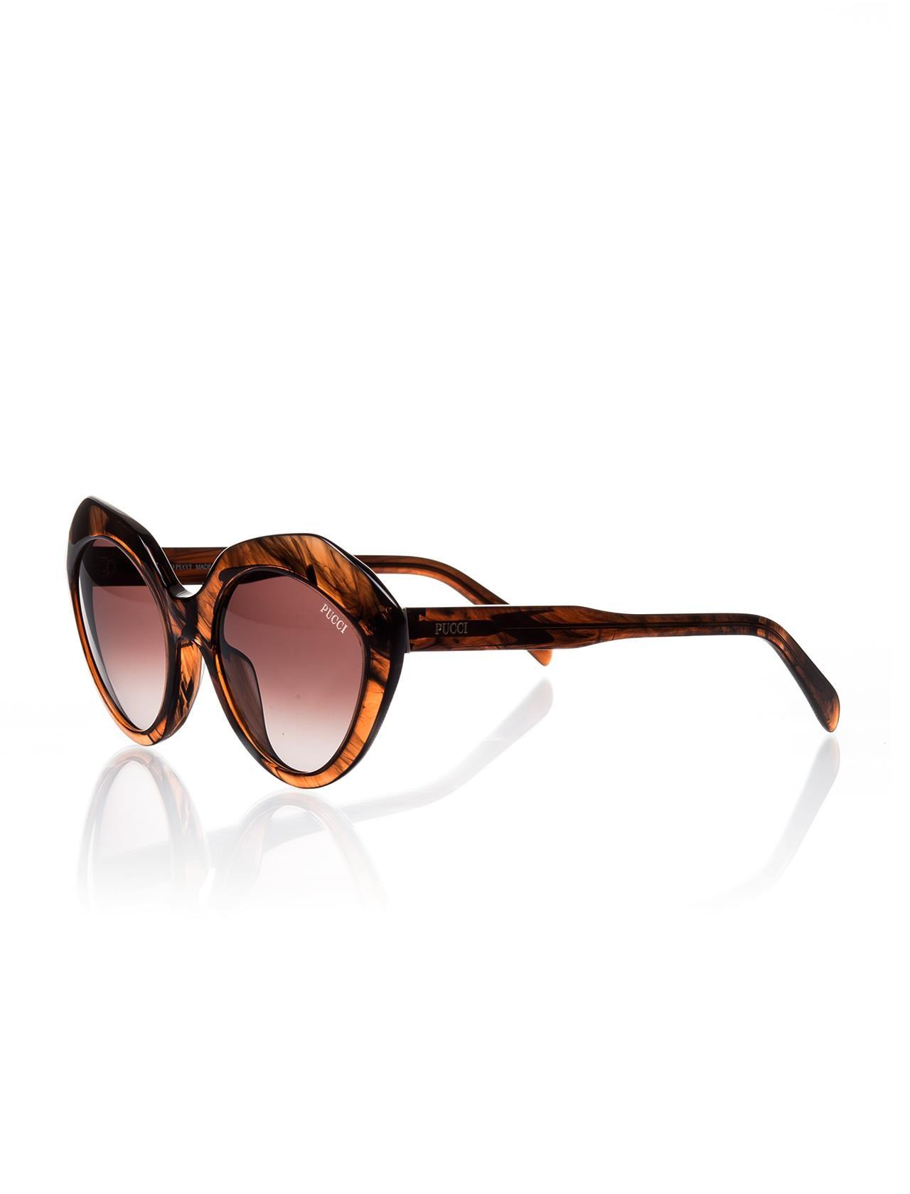 Women's sunglasses ep 0041 50s bone Brown organic oval cat eye 53-19-140 emilio pucci