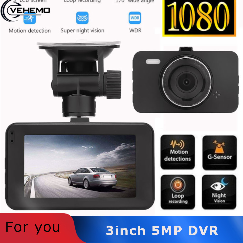 3 Inch Dash Cam Car Camera Dashcah Video Registrator Rearview Mirror Auto DVR Camera Driving Recorder Full HD 1080P For Cars