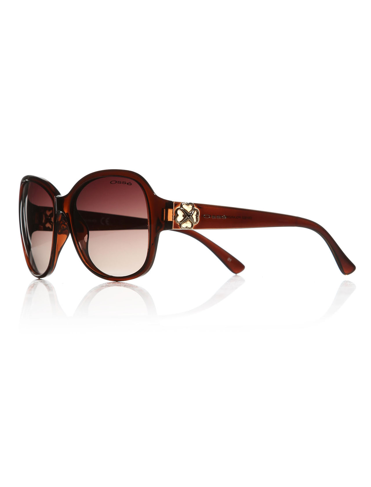 Women's sunglasses os 1922 03 bone Brown organic oval aval 59-16-139 osse