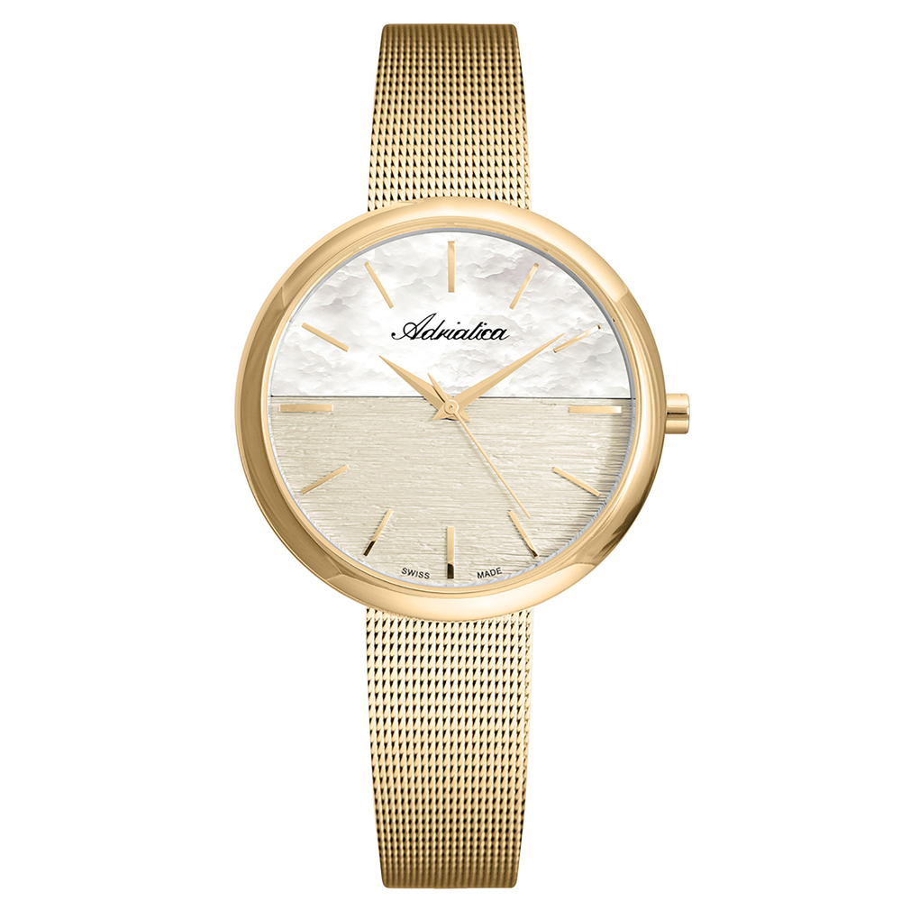 Women's Watch A3525.1111q On A Steel Bracelet With PVD Coated Mineral Glass SUNLIGHT