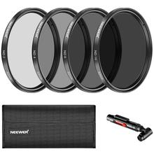 Neewer 52/58 MM Neutral Density ND2 ND4 ND8 ND16 Filter and Accessory Kit for Nikon D3300 D3100 D3000 D5300 D5200 D5100 D5000