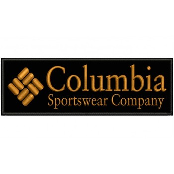 COLUMBIA Iron Patch Toppa Ricamata Gestickter Patch Patch Brode Parche Bordado