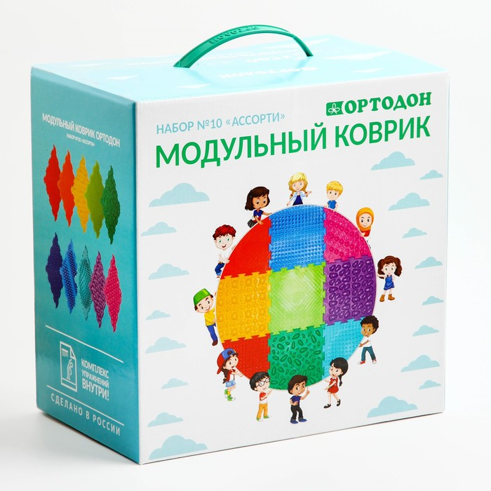 Детский массажный коврик ОРТОДОН, набор Ассорти цена