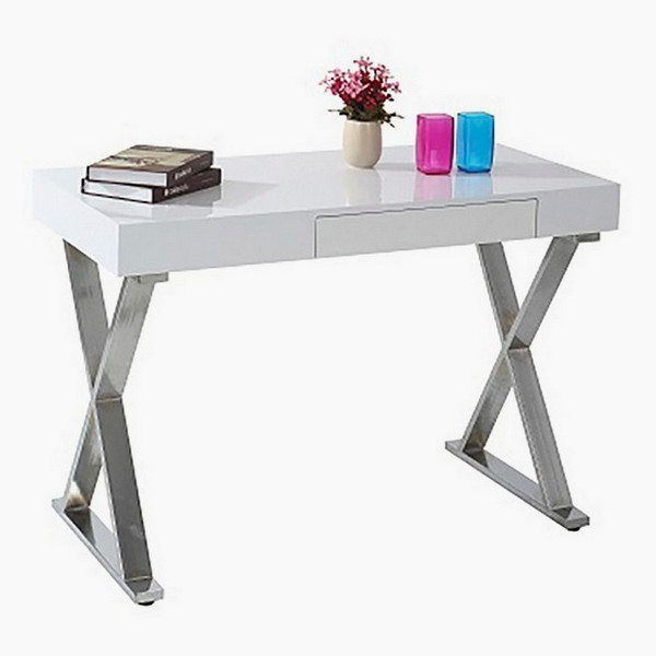 Desk Chrome-plated Steel Mdf (110 X 55 X 76 Cm)