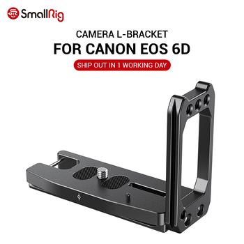 SmallRig Quick Release L Plate L-Bracket for Canon EOS 6D Camera  Vertical Shooting Bracket W/ Arca Style Base / Side Plate 2408 smallrig quick release l plate l bracket for canon eos 6d camera vertical shooting bracket w arca style base side plate 2408