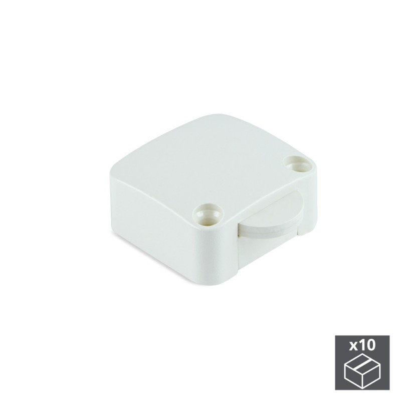 Lot Of 10 Switches Emuca Door In White Plastic