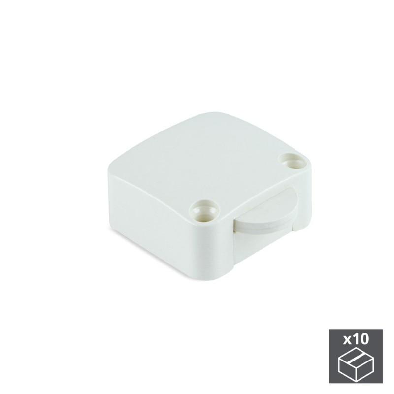 Lot Of 10 Switches Emuca Door In White Plastic