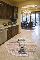 Dywaniki salon dywaniki salon wystrój pokoju szary dywan dekoracja salonu | kawiarnia dekoracyjna Djt średnica 100 Cm w Dywany od Dom i ogród na