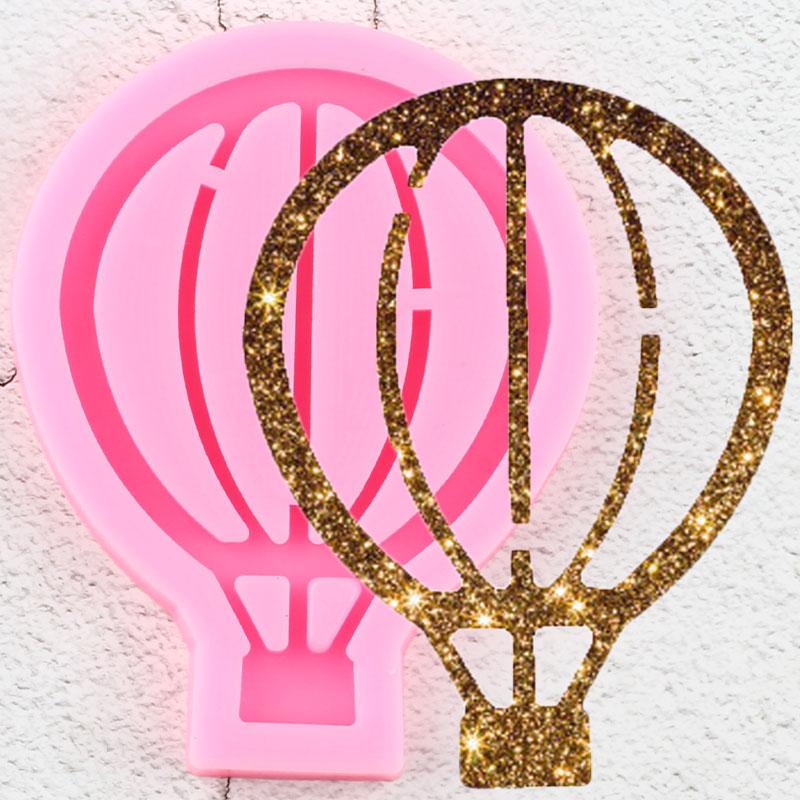Блестящие брелоки с воздушным шаром, форма для подвесок, полимерная глина, сделай сам, изготовление ювелирных изделий, блестящие формы для подвесок из эпоксидной и силиконовой смолы|Пресс для глины| | АлиЭкспресс