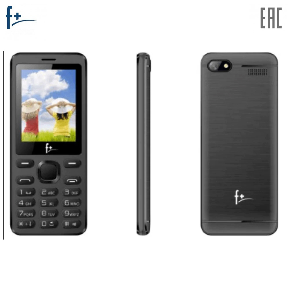 "Mobile Phones F+ S240 Dark Grey cellular phone cellphone S 240 2.4"""" 240х320 32MB RAM 32MB ROM 0.08Mpix 2 Sim Micro-USB 1000mAh"