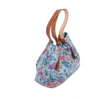 Leather bags for woman floral to give away Made in Spain
