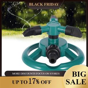 Image 1 - Irrigatori da giardino irrigazione automatica erba prato 360 gradi 3 ugelli cerchio sistema di irrigazione rotante forniture da giardino