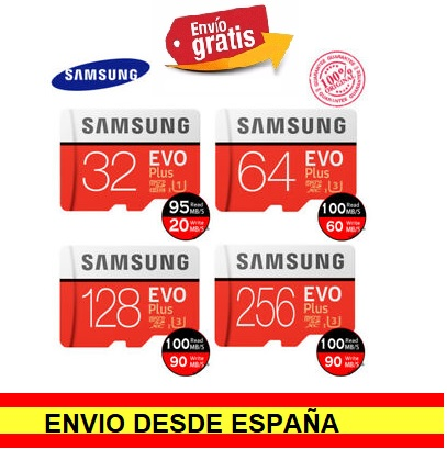 Time Memory Cards Microsd SAMSUNG. Micro SD HC EVO Plus Class 10 + Gift Adapter