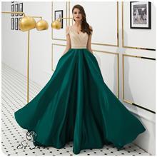 NEW 2020 St.Des A-line V-Neck Russian Champagne Blue Diamond Sequins Sleeveless Designer Floor Length Evening Dress Party