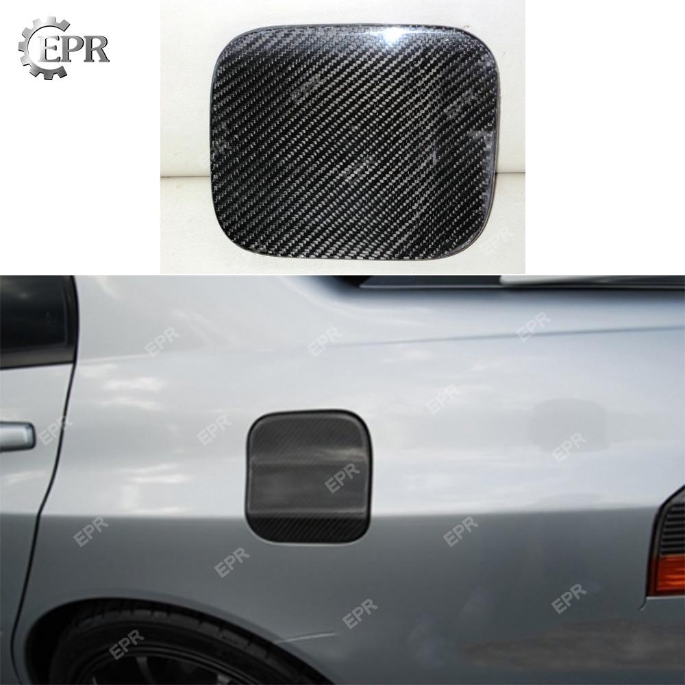 Carbon Fiber Gas Cap Fuel Door Cover for Mitsubishi Lancer Evolution X EVO 10