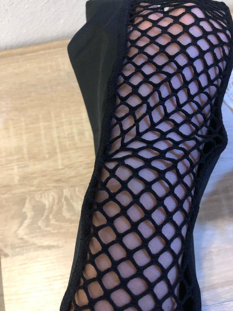 Black High Waist Leggings Women Mesh Patchwork Push Up Legging  Fitness Pants Breathable Polyester Sport Leggins photo review