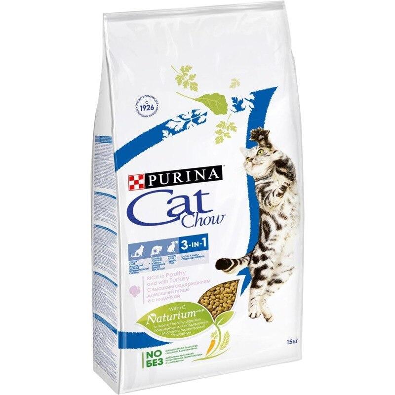 Cat Chow Special Care 3 In 1 для кошек 3 в 1: профилактика МКБ, зубного камня, вывод шерсти, 15 кг