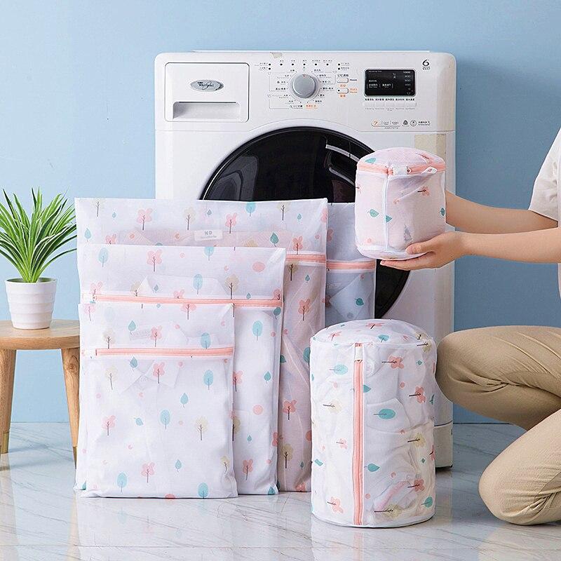 2019 Hàng Mới Về Dây Kéo Giặt Rửa Túi Có Thể Gấp Lại Lưới Quần Áo Bẩn Tất Túi Giặt Hữu Ích Đồ Lót Áo Ngực Túi Sắp Xếp title=