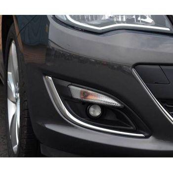 Darmowa wysyłka wysokiej jakości Opel Astra J 2012-2015 jasna chromowana 2 sztuki przednie światło przeciwmgielne rama Opel Astra J 2012-2015 tanie i dobre opinie TR (pochodzenie) Chromowa stylizacja