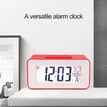 Mini Home Table Alarm Clock Snooze Intelligent Sound Control Backlight Electronic Digital Desktop Clock With Calendar Display