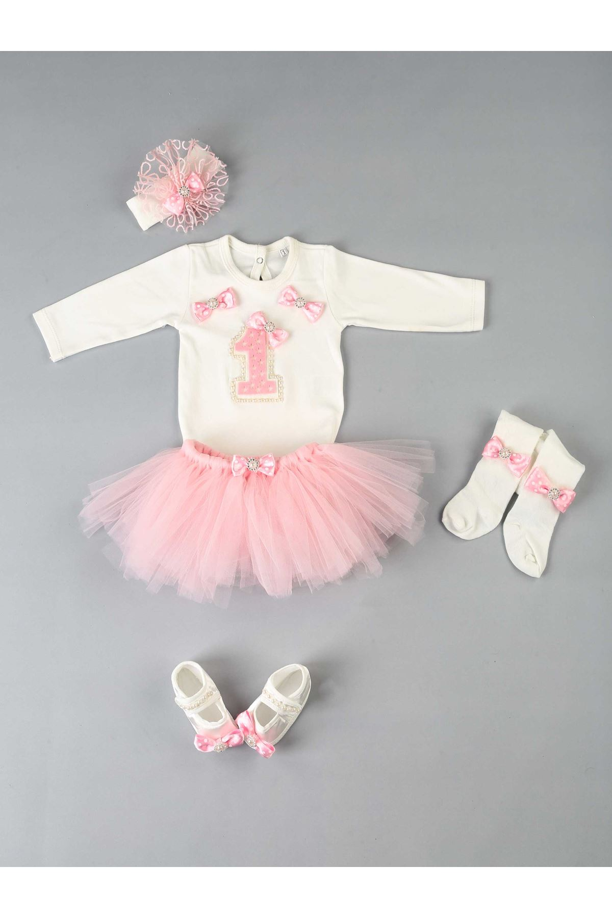 Pink 1 Years Old Baby Girl Tütü Suit