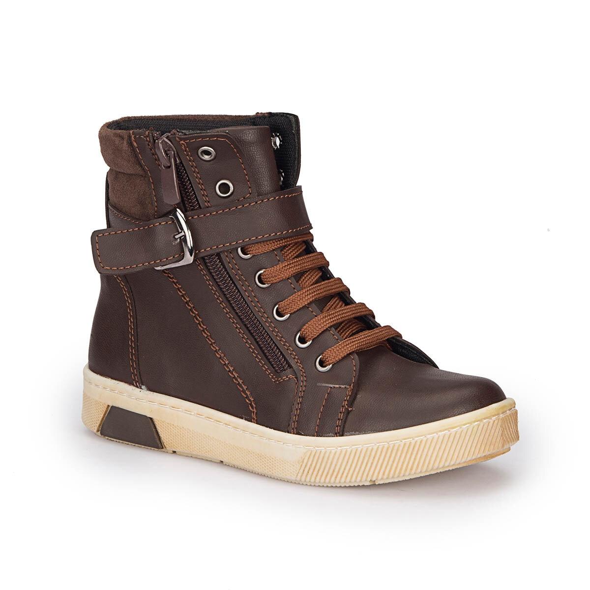 FLO 72.509755.F Brown Male Child Sneaker Shoes Polaris