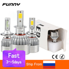 2pcs Car Headlight Bulbs LED H1 H3 H4 H7 H8 H11 HB3 HB4 Auto C6 Bulb 8000LM 3000/4500/6500/8000K 36W 9~36V Car Lights Universal