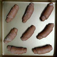 柔软拉丝的巧克力面包卷的做法图解13
