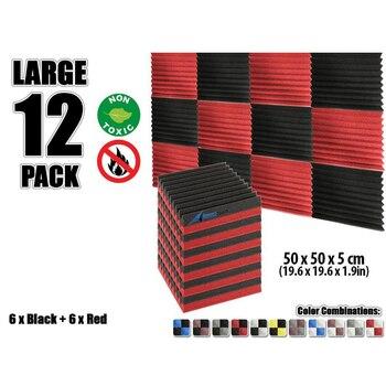 """Arrowzoom 12 pcs 19.6"""" x 19.6"""" x 1.9"""" Color Combination Wedge Tile Studio Sound Absorbing Panel Acoustic Foam Treatment"""