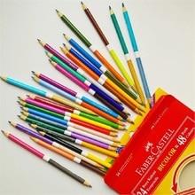 Faber Castell 48 컬러 나무 색 연필 초보자 손으로 그린 그림 미술 용품 학생 Colorfully