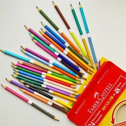Faber Castell 48 Colored Wooden Colors Pencils Beginners Hand Painted Drawing Art Supplies Students Colorfully