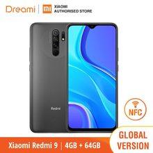 Versão global xiaomi redmi 9 64gb rom 4gb ram (novo/selado) redmi9 smartphone telefone móvel