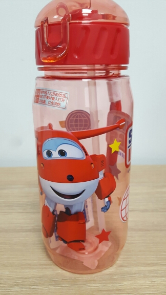 Children's Water Cup Plastic straw cup Anti fall kettle BPA Free Convenient Food contact material Cartoon cup Lovely Super Wings|Water Bottles| |  - AliExpress
